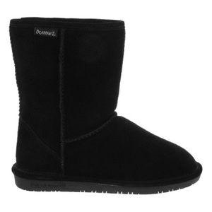 BearPaw | Classic Black Emma Short Suede Boots